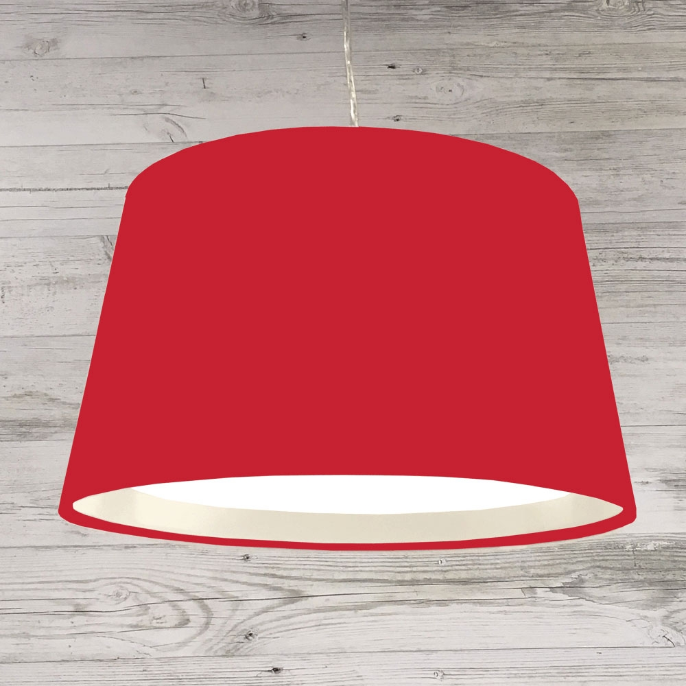 XL French Drum Pendant Red